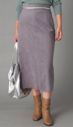 La boutique BonBon エコスウェードロングスカート