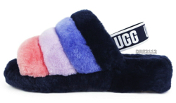 UGG Fluff Yeah Slide Starry Night Multi Fur Slippers