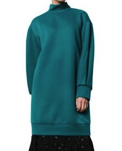 LE CIEL BLEU Stand Neck Long Pullover