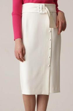 PINKY&DIANNE くるみドット付きタイトスカート