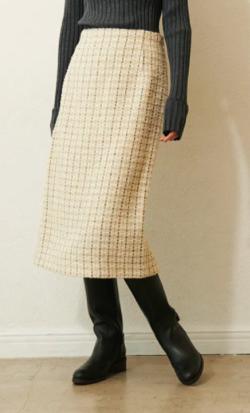LOUNIE ツイードタイトスカート