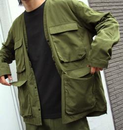 ZIP FIVE ノーカラーフラップジャケット