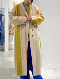 IRENE Mohair Stripe Coat