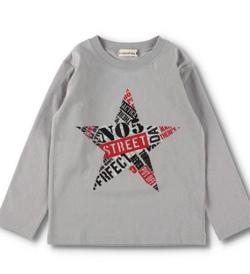 BRANSHES 星プリント長袖Tシャツ