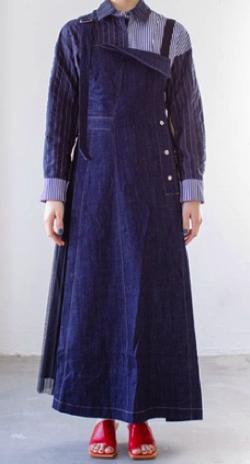 AULA AILA アシンメトリープリーツジャンパースカート