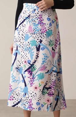 PINKY&DIANNE フェスティブフローラルプリントスカート