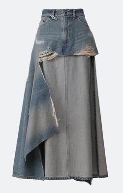 MIHARA YASUHIRO Layer Denim Skirt
