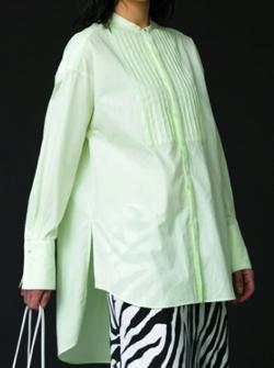 MAISON SPECIAL スタンドカラーオーバーチュニックシャツ
