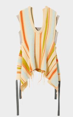 IRENE Mohair Stripe Vneck Knit Tops