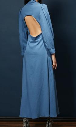 GHOSPELL Cross Fade Open Back Midi Dress