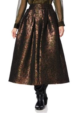 D Nero カモフラフレアースカート