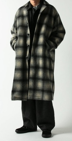COOTIE PRODUCTIONS(クーディプロダクション) Napping Ombre Check Shop Coat