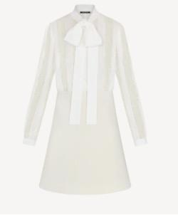 Louis VuittonのレースアンドプリーツAラインドレス