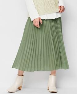 GU オーガンジープリーツスカート