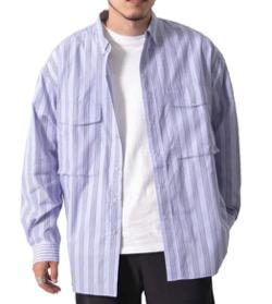 EKAL ストライプレイクショアシャツ