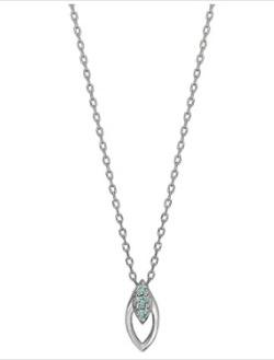TAKE-UP K10ダイヤモンド マーキスデザインネックレス( WG)