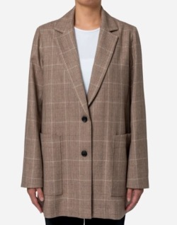 Bed&Breakfast Exclusive Glen Check Jacket in Brown Mix
