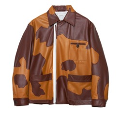 Patchwork Leather Modified Farmers Jacket