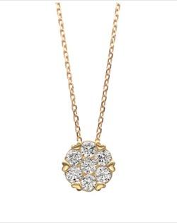 ポンテヴェキオ K18YGダイヤモンドネックレス
