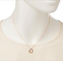 ポンテヴェキオ K18YGグリーンダイヤモンド カラーサファイア ダイヤモンドネックレス