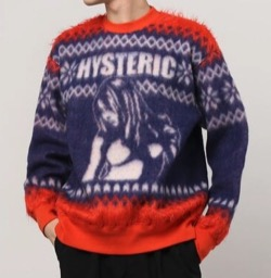 HYSTERIC GLAMOUR HYS TIMESジャガード スウェット
