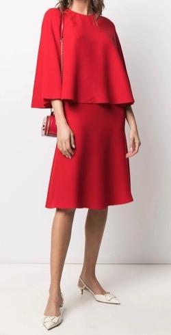 VALENTINO ケープスタイル ドレス