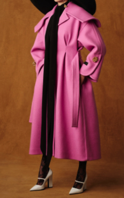 PATOU Belted cashmere and wool blend coat