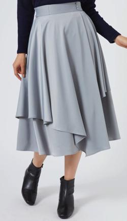Rewde ラップ風サテンスカート