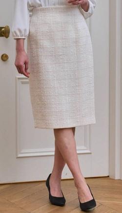 ANAYI スラブミックスツィードタイトスカート