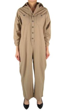 BLUEBIRD BOULEVARD Cotton linen back satin jumpsuit