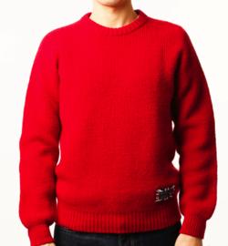 gim 7ゲージ英国羊毛ホールガーメントクルーネック