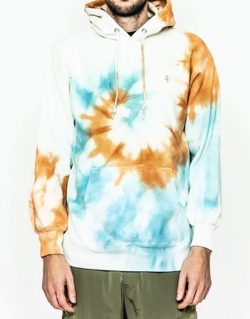 ACANTHUS Spiral Tie-dye Hooded Sweatshirt