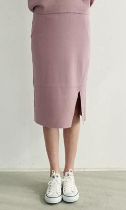 TONAL サイドスリットニットスカート
