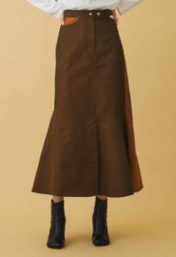 INella アシメカットロングスカート