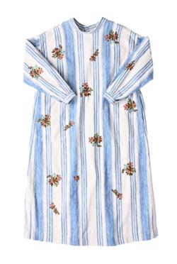 45R カディチノヒッコリーの刺繍ドレス