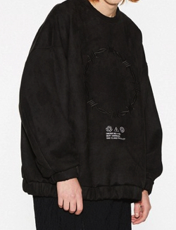 SHAREEF 'BARBED WIRE' MICRO SUEDE SWEAT