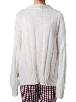 LE CIEL BLEU Wide Rib Soft Knit