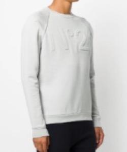 N°21 numero ventuno エンボスロゴスウェットシャツ