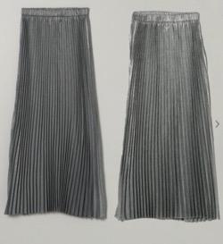 JEANASiS リバーシブルシャンブレープリーツスカート
