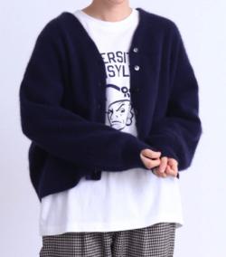 PAR ICI △○ラクーン50 ショートカーディガン