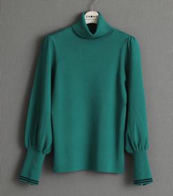 CHONO 『Breakfast knit 』 tie-turtle knit GREEN