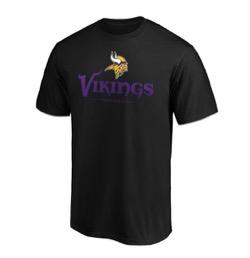 NFL バイキングス Tシャツ チーム ロックアップ ロゴ ブラック