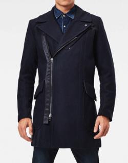 G-STAR RAW Biker Wool Long Coat