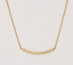 TAKE-UP K18 YGダイヤモンドラインネックレス