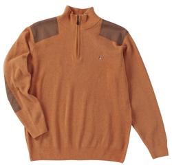 Half Zip Sweater with Ridged Molding Fabric