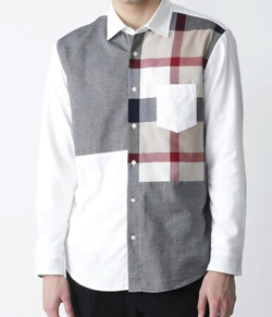 BLACK LABEL CRESTBRIDGE クレストブリッジチェックパッチワークネルシャツ