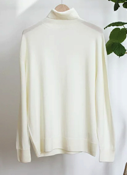 PETER GEESON Turtle Neck Wool Knit Sweater