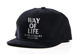 "RATS CORDUROY CAP ""WAY OF LIFE"""