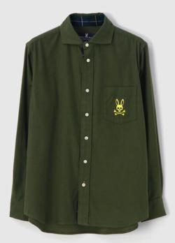 Psycho Bunny モールスキン スタンプロゴシャツ