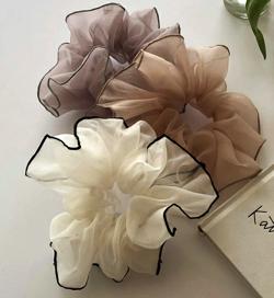 DHOLIC 刺繍配色シフォンシュシュ